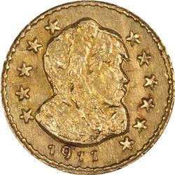 1911 Parka Head Round ¼ DWT. Rarity 6. NGC MS-66.