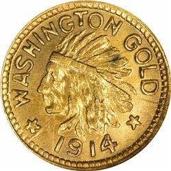 1914 Washington ¼. Rarity 6. NGC MS-66.