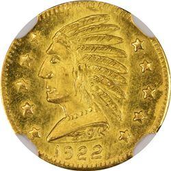 1922 British Columbia Gold Round $1 size token. Rarity 6. NGC MS-66.