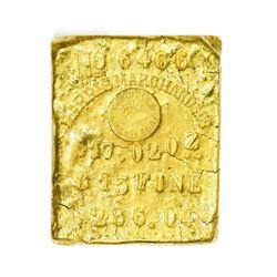 California. Sacramento (also Marysville). Harris, Marchand & Co. Gold Ingot. Weight: 17.02 Oz. Finen