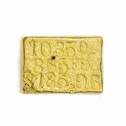 California. San Francisco. Kellogg & Humbert Assayers Gold Ingot. Weight: 10.35 Oz. Fineness: .865.