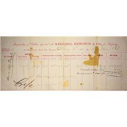 San Francisco, CA - May 3, 1862 - Kellogg, Hewston & Co. Assay Receipt.
