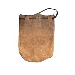 """California. Williams. Bank of Williams Leather Banking Pouch. 7"""" x 5 ½""""."""