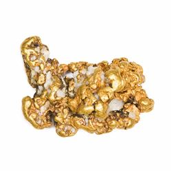 "California. Gold Nugget. 2.53 Ounces. About 1.5"" x 1""."