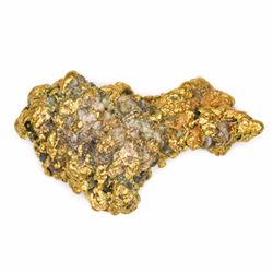 "California. Gold Nugget. 3.00 Ounces. About 2 1/8"" x 1 ¼"" at its widest."