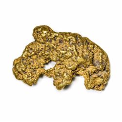 "California. Gold Nugget. 4.10 Ounces. About 2 1/16"" x 1 ¼"" average."