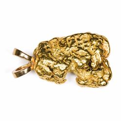 "California. Gold Nugget Pendant. 0.48 Ounce. About 7/8"", nugget only, a shade over 1"" with mount."