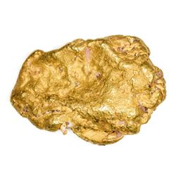 "California. Gold Nugget. 5.0 Ounces. About 2"" x 1 ¼""."