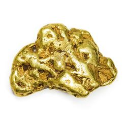 "California. Gold Nugget. .59 Ounces. About 1 1/8"" x 3/4""."