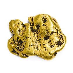 "Alaska. Bering Sea. Gold Nugget. 1.37 Ounces. About 1 ¼"" x 1 1/8""."