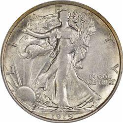 1919-D 50C. Half Dollar AU-55 PCGS.