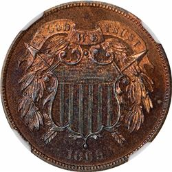 1869 2C. Proof-65 RB NGC.
