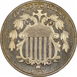 1879/8 5C. Proof-64 Cameo NGC.