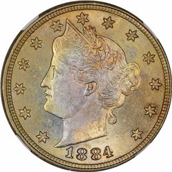 1884 5C. MS-65 NGC.