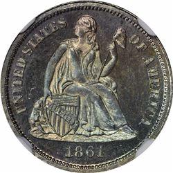 1861 10C. Proof-66 NGC.