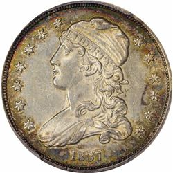 1837 25C. B-4. Rarity-4 as Late Die State. AU-58 PCGS.