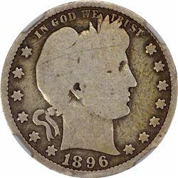 1896-S 25C. Good-6 NGC.
