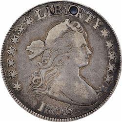 1806 50C. Bust Half Dollar. F Details PCGS.