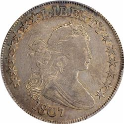 1807 50C. Draped Bust. O-106. Rarity-2. VF-30 PCGS.