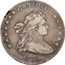 1799 $1. BB-160, B-12. Rarity-2. VF Details – Cleaning. PCGS.