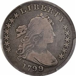 1799/8 $1. BB-143, B-2. Rarity-3. VG-10 PCGS.