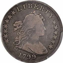 1799/8 $1. BB-143, B-2. Rarity-3. VG-10 PCGS.