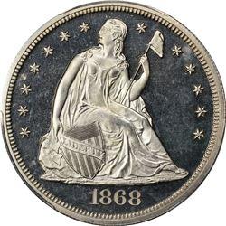 1868 $1. Proof-64 CAM PCGS.