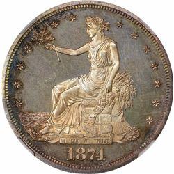 1874 T$1. Proof-64 NGC.