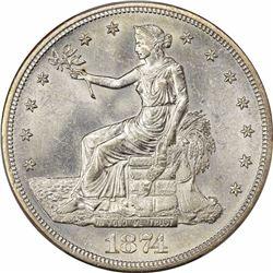 1874-S T$1. MS-63 PCGS.