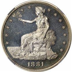 1881 T$1. Proof-65 Cameo NGC.