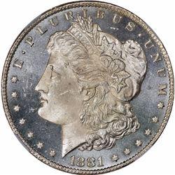 1881-CC S$1. MS-65 PL NGC.