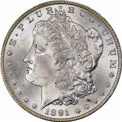 1891-CC $1. MS-64 PCGS.