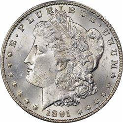 1891-CC $1. MS-63 PCGS.