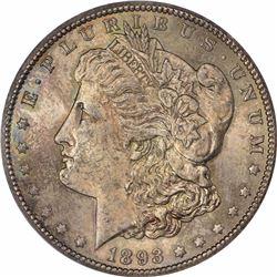 1893-CC S$1. MS-63 PCGS.