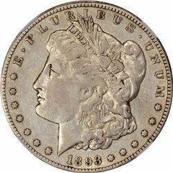 1893-CC $1. VF-30 NGC.