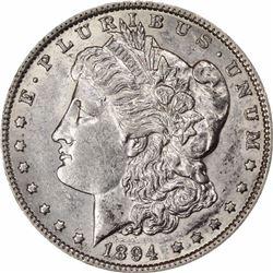 1894-O S$1. AU-55 NGC.