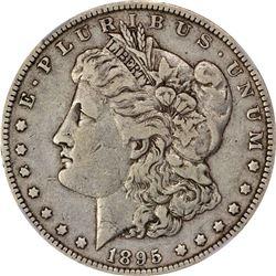 1895-O S$1. VF-25 NGC.