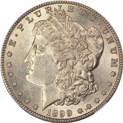 1899-S S$1. AU-58 NGC.