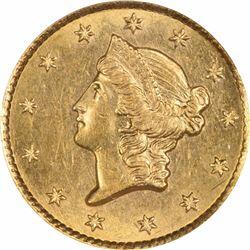 1854-S G$1. MS-61 NGC.