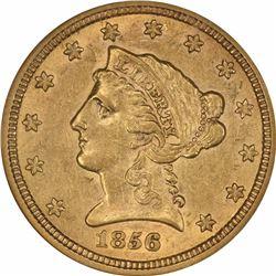 1856-S $2.50. AU-55 NGC.