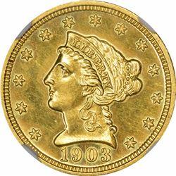 1903 $2.50. Proof-63 NGC.