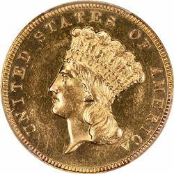 1888 $3. Proof-62 PCGS.