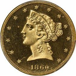1860 S$5. Proof-65+ CAM PCGS.