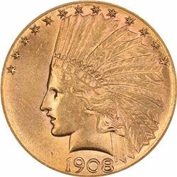 1908-S $10. MS-62 PCGS.