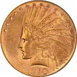 1910-S $10. MS-62 PCGS.