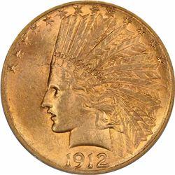 1912-S $10. MS-62 PCGS.