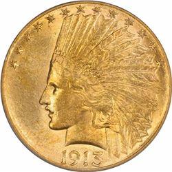 1913-S $10. AU-58 PCGS.