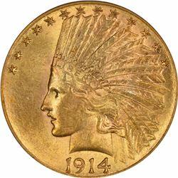 1914-S $10. MS-62 PCGS.