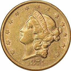 1874-CC $20. AU-53 NGC.