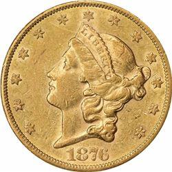 1876-CC $20. AU-53 NGC.